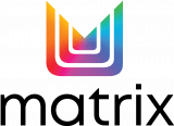 Matrix-2021-Logo-Vertical-Rainbow-Icon-Black-Text-Outlined